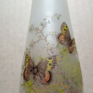Viking vase, made in USA, 10 inch tall, butterfly